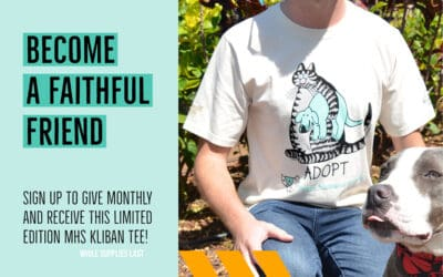 Become a Faithful Friend, get a FREE Limited Edition MHSxKliban Tee!