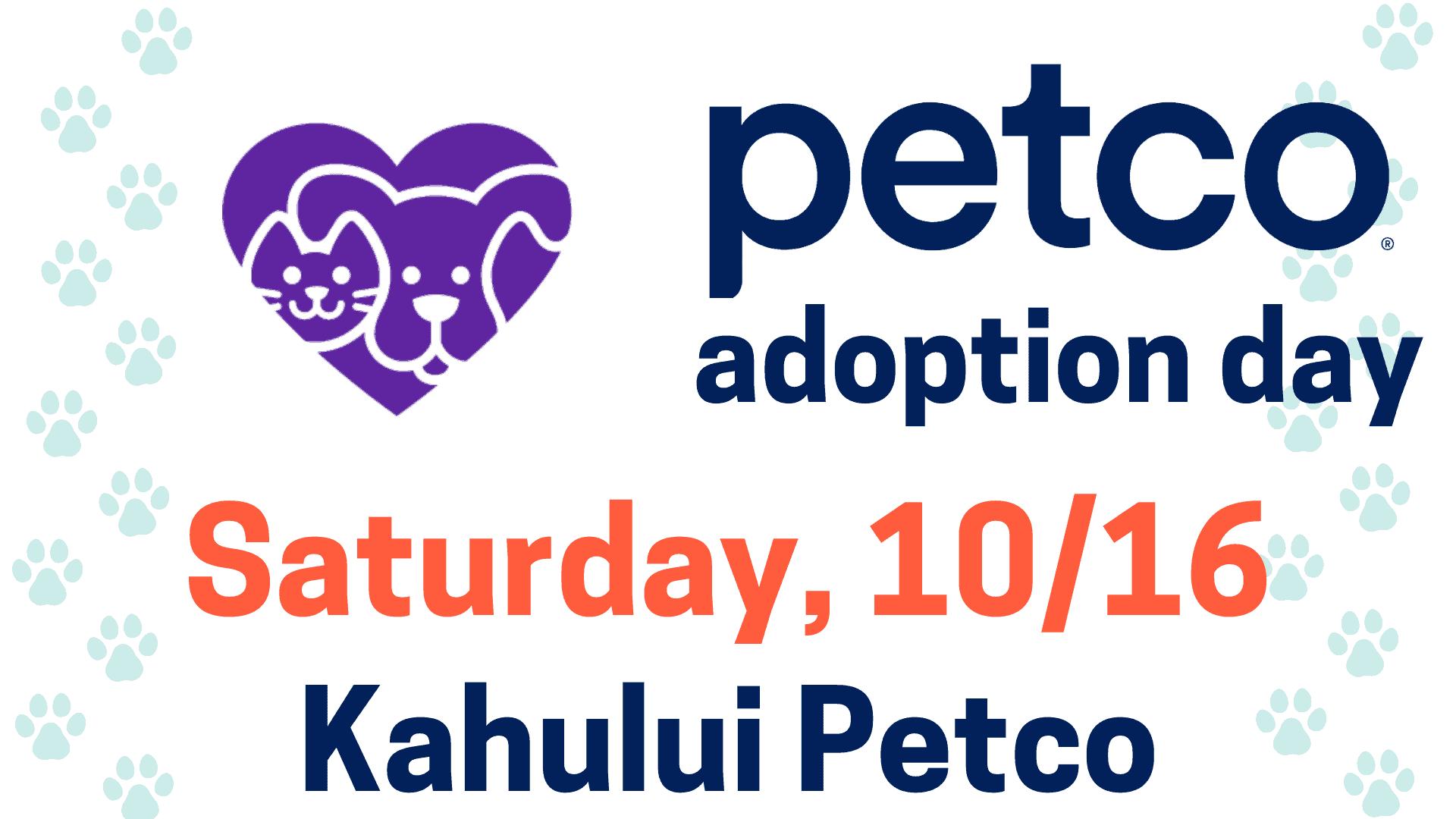 Petco Adoption Day Saturday 10/16